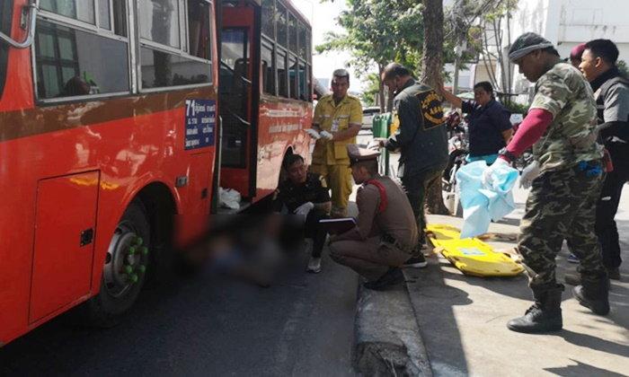 รถเมล์เล็กสาย 71 แล่นทับชายหนุ่ม เสียชีวิตกลางถนนรามคำแหง