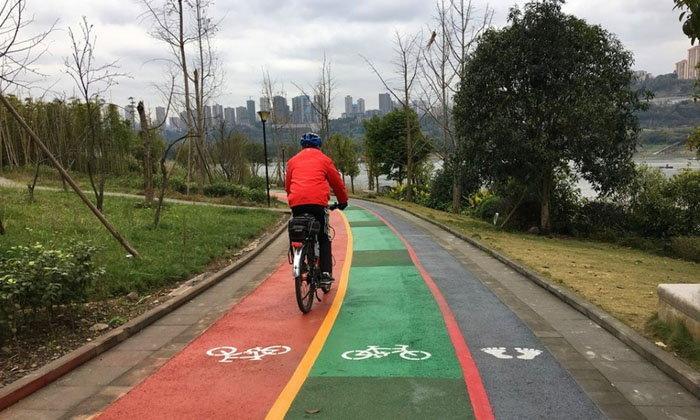 เริ่ดสุดๆ ฉงชิ่งเปิดเส้นทางจักรยานเลียบแม่น้ำ ระยะทาง 10.4 กิโลเมตร