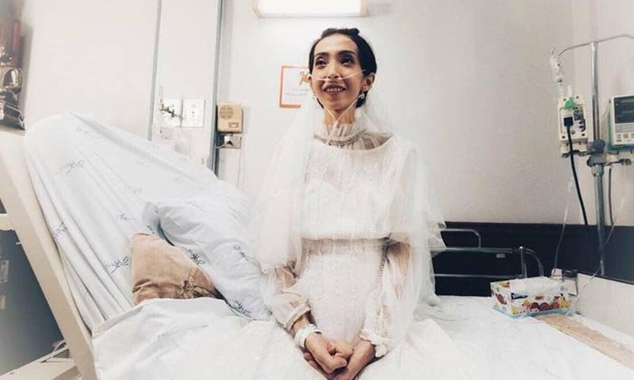 """""""จะอยู่ในใจตลอดไป"""" เจ้าสาวป่วยมะเร็งเข้าพิธีวิวาห์ใน รพ.ศิริราช เสียชีวิตแล้ว"""