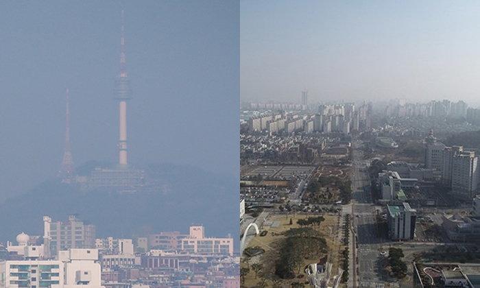 """เกาหลีใต้เอาจริง! สั่งโรงไฟฟ้าลดปล่อยควัน หลัง """"ฝุ่นละออง"""" กลืนท้องฟ้ากรุงโซล"""