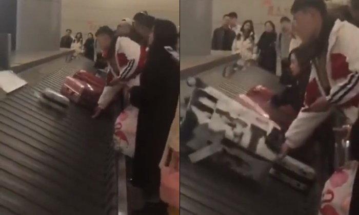 """อย่างหล่อ หนุ่มจีนใช้มือรองรับ """"กระเป๋า"""" ช่วยถนอมให้แม้ไม่ใช่ของตัวเอง"""
