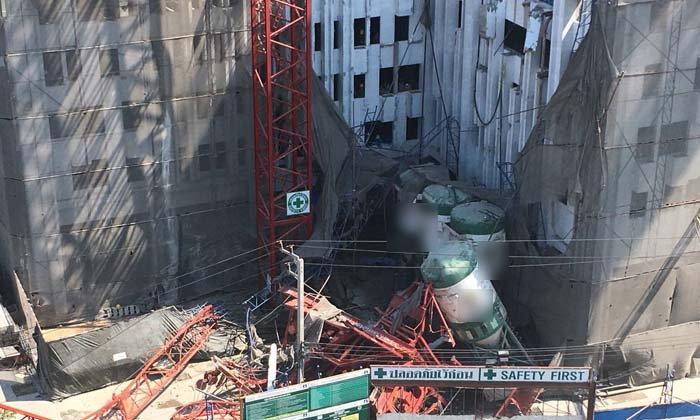 ระทึก เครนก่อสร้างคอนโด ย่านพระราม 3 ถล่ม ดับแล้ว 4 เจ็บอีกเพียบ