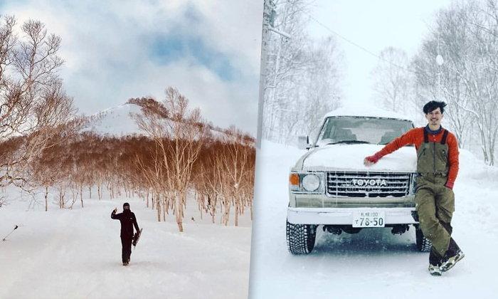 """""""เคน ธีรเดช"""" ส่งตรงภาพวิวจากบ้านที่ญี่ปุ่น ถูกหิมะปกคลุม สวยเหมือนภาพวาด (คลิป)"""