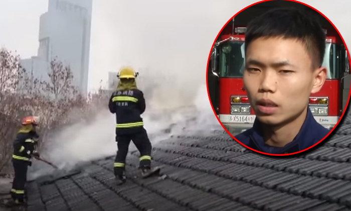 หวิดตายในหน้าที่! นักดับเพลิงฮีโร่ สละหน้ากากออกซิเจนให้ผู้หญิงในตึกไฟไหม้