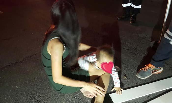 สาวท้องปกป้องผัว ไม่ได้ขับรถไล่ชนลูกเมีย แค่ยื้อกันเดือด
