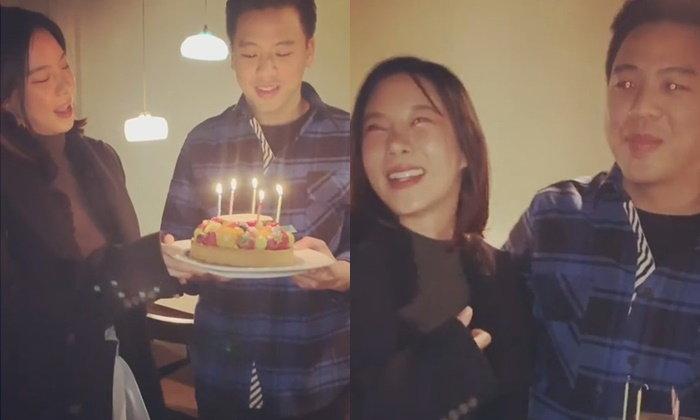 """""""คริส หอวัง"""" เปิดตัวแฟนใหม่แล้วจ้า ตามไปเซอร์ไพรส์วันเกิดที่ญี่ปุ่น"""