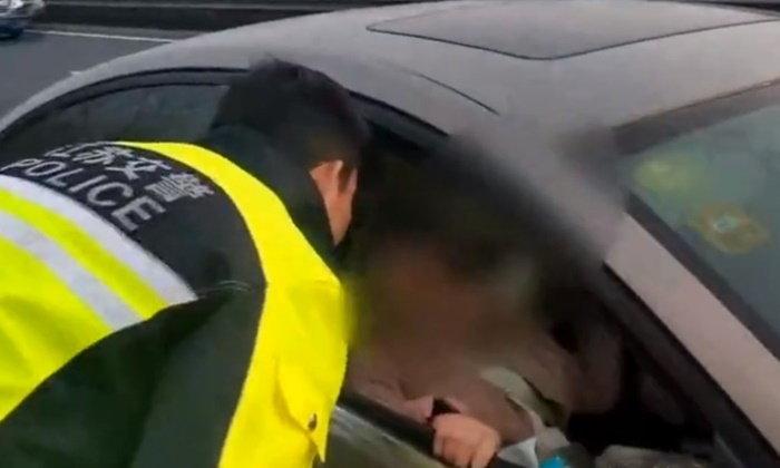 โกรธจนลมจับ หญิงทะเลาะสามีกลางทางด่วน ตรุษจีนนี้จะกลับบ้านใคร