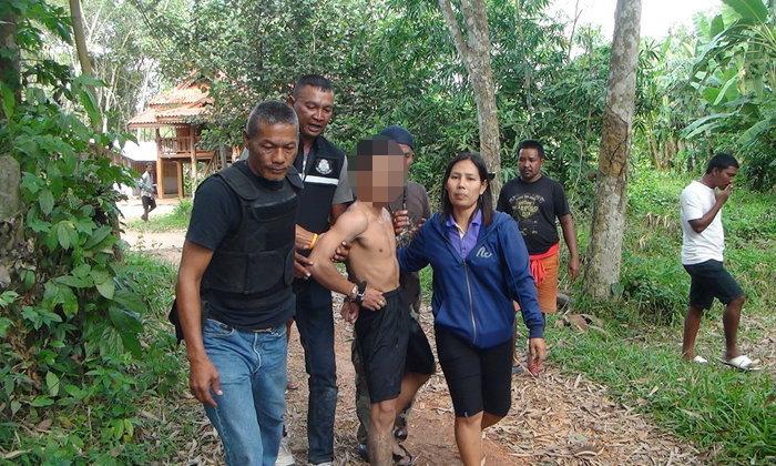 รวบแล้ว! หนุ่มเมายาไล่ยิงชาวบ้าน เจ้าหน้าที่เข้าคุมตัวคาบ้านพัก