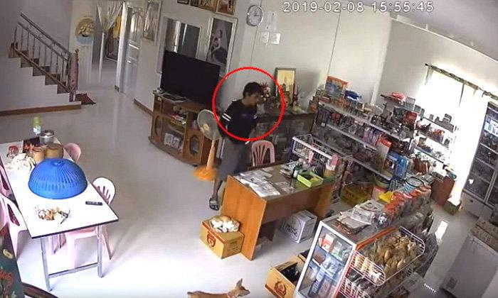 สาวช้ำ-วอนตำรวจลากคอโจรงัดร้านค้าฉกสร้อยทอง-เงินสดสูญ 3 หมื่นหนีลอยนวล