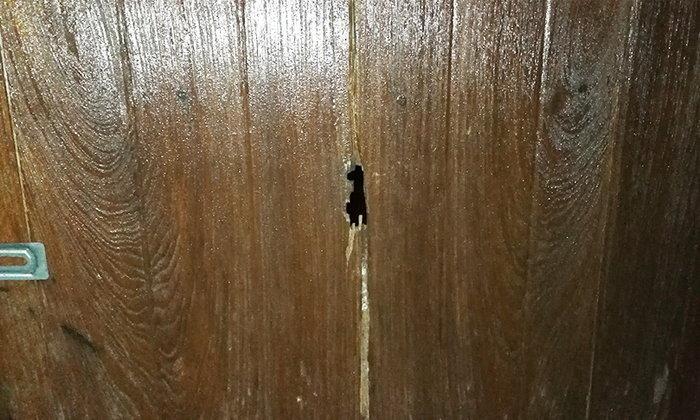 ลากลับบ้านมาตาย! คนร้ายสอดปืนทางรูประตู กระหน่ำยิงทหารพรานดับคาโทรทัศน์