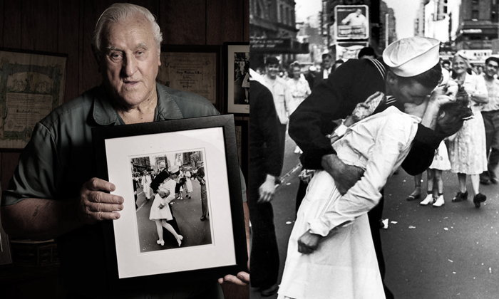 """กะลาสีเรือสหรัฐจูบสาวกลางนิวยอร์กยุคสงครามโลก """"เสียชีวิต"""" แล้ว ด้วยวัย 95 ปี"""