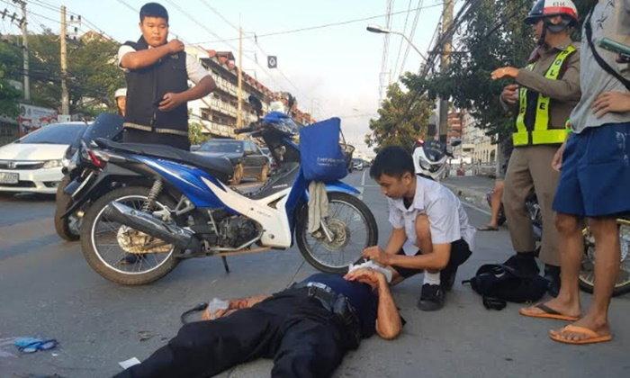 ยกนิ้วให้เลย! ชื่นชมเด็กนักเรียน ม.4 บุกเดี่ยวปฐมพยาบาลลุงรถล้มทับร่าง