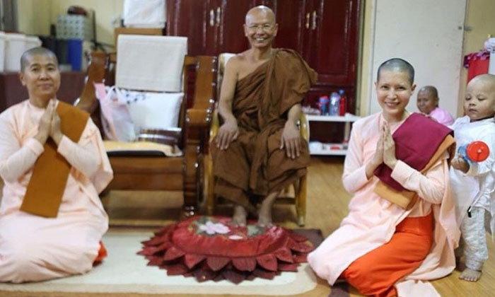 """""""กิ๊ก มยุริญ"""" สึกแล้ว หลังปลงผมบวชชีที่พม่า เป็นเวลานานถึง 227 วัน"""