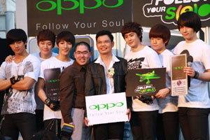 OPPO เปิดตัวมือถือรุ่นใหม่ ดึง 2PM เป็นพรีเซ็นเตอร์ประเดิมโปรโมชั่นสุดกรี๊ด