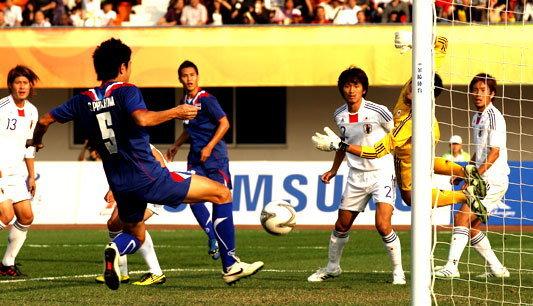 ไทยพ่ายญี่ปุ่น0-1ร่วงรอบ8ทีมเอเชี่ยนเกมส์