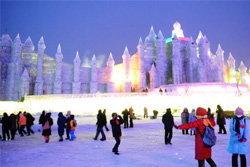 ตระการตา!เมืองน้ำแข็งในจีน
