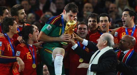 สเปนฉลองแชมป์ขึ้น1โลก-ดัตซ์ที่2