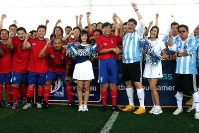 ฮุนไดฉลองฟุตบอลโลก ผ่านฟุตบอลกระชับมิตรสื่อมวลชน 2010