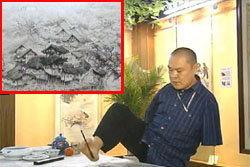 ทึ่ง! ศิลปินจีนแขนขาด ใช้ปาก-เท้า วาดรูป
