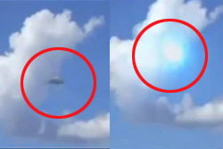 ฮือฮา! ยูเอฟโอระเบิดกลางท้องฟ้าในบราซิล