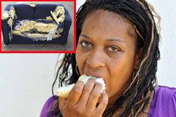 สุดแปลก! หญิงมะกัน กินโซฟาแทนขนม