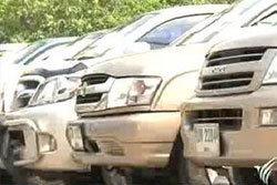 ตำรวจภูธรภาค 5 ยึดรถยนต์จากขบวนการค้ารถเถื่อน
