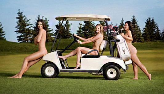 สาวเซ็กซี่มาชวนตีกอล์ฟ