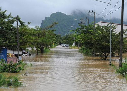 พัทลุงระดับน้ำเพิ่มสูงขึ้นในหลายตำบล