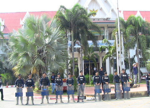 ผู้ว่าฯชลบุรีสั่งปกป้องสถานที่ราชการ