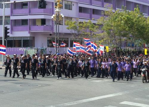 นักเรียน-นักศึกษาตรังแสดงพลังไล่รัฐบาล