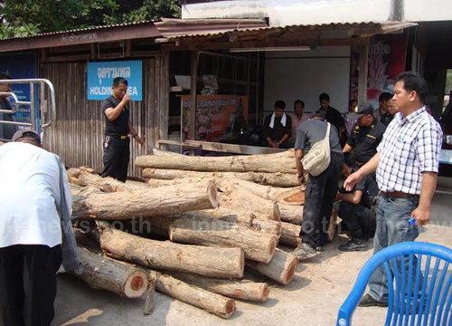 ตร.อุดรฯรวบขบวนการลักลอบตัดไม้พะยูง