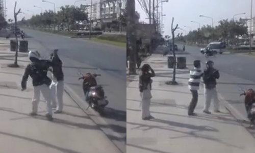 ชาวเน็ตชื่นชม! พลเมืองดีช่วยผู้หญิงถูกแฟนทำร้ายริมถนน