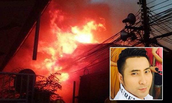 """ไฟไหม้บ้าน """"บอล เชิญยิ้ม"""" เศร้าอัฐิพ่อวอดในกองเพลิง"""