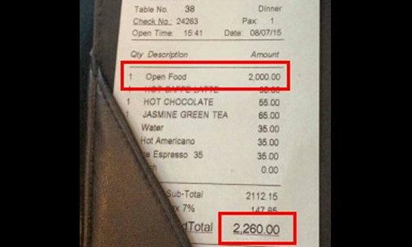 แชร์ว่อน! ร้านกาแฟสุดโหด เก็บค่านั่งคุยธุระ 2,000