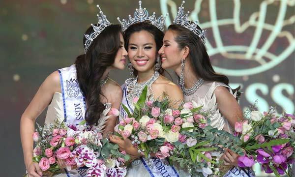 """เฟร้นฟราย ธัญชนก มูลนิลตา คว้ามงกุฎ """"Miss Thailand World 2015"""""""