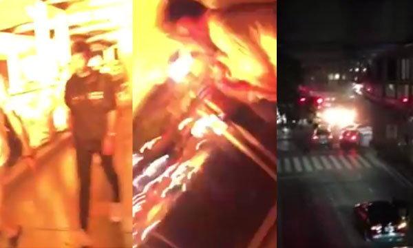 นักท่องเที่ยวจีนถ่ายคลิปบนสกายวอล์ค นาทีระเบิดราชประสงค์