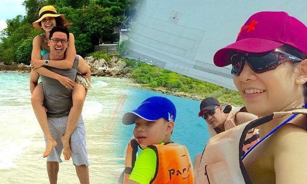 นุสบา ควง 3 หนุ่มบ้านปุณณกันต์ พักร้อนเที่ยวเกาะ