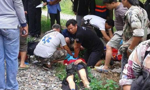 นักท่องเที่ยวจีนหูหนวกเดินข้ามราง รถไฟชนดับย่านหลักสี่
