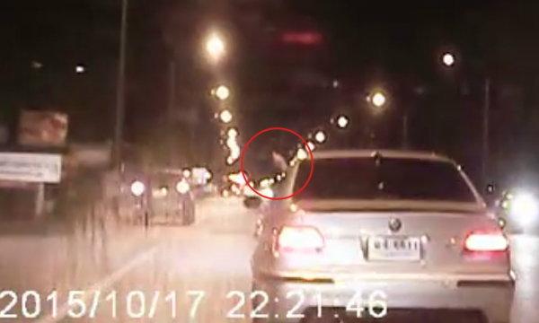 เชียงใหม่ตามล่า! คนนั่งเก๋งบีเอ็ม รัวยิงปืนขึ้นฟ้ากลางถนน