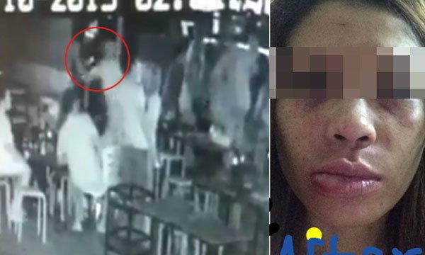 ชาวเน็ตจวกยับ! คลิปหนุ่มโหดตบผู้หญิงคว่ำกลางร้านอาหาร