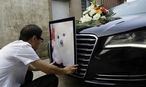 หรูหราไฮโซ พิธีงานศพสุนัขเมืองจีน ไม่ต่างกับงานศพทั่วไป