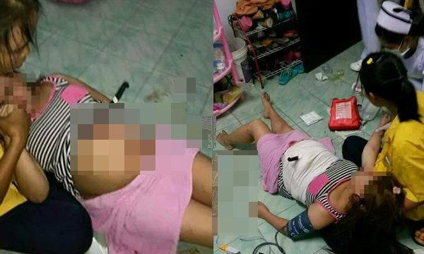 สุดหวาดเสียว หญิงท้อง 7 เดือน ลื่นล้มมีดปักคาท้อง