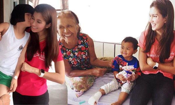 สวยจากภายใน ปู ไปรยา เป็นอาสาสมัครมูลนิธิสร้างรอยยิ้ม