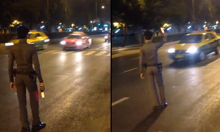 วิบากกรรมคนกรุง คลิปตำรวจช่วยเรียกแท็กซี่ ยังไม่จอดรับ
