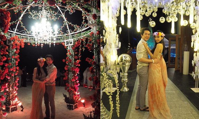 อั้ม แอมป์ สวีตหวานที่มัลดีฟส์ บรรยากาศยังกับงานแต่ง