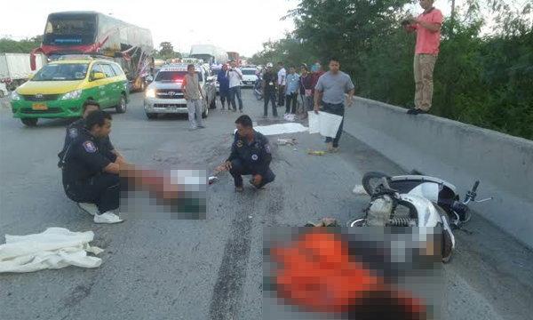 สลด 2 แคดดี้สาวถูกรถพ่วงชนแล้วเหยียบซ้ำ คนขับลอยนวล