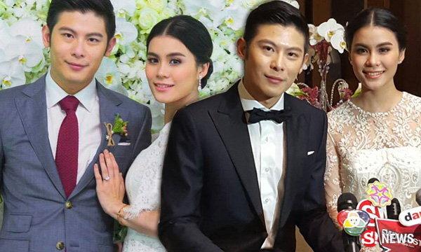 มัดหมี่ พิมดาว ควงสามี สัว ศุภชัย พูดเปิดใจฉลองวันแต่งงาน