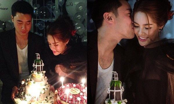 ช็อตหวาน ไฮโซขุนพล ประทับจูบเกรซ กลางงานวันเกิด