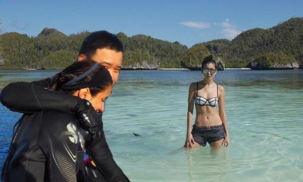 ปู ไปรยา กระชับรักโน้ต จับมือดำน้ำลึก ที่อินโดนีเซีย