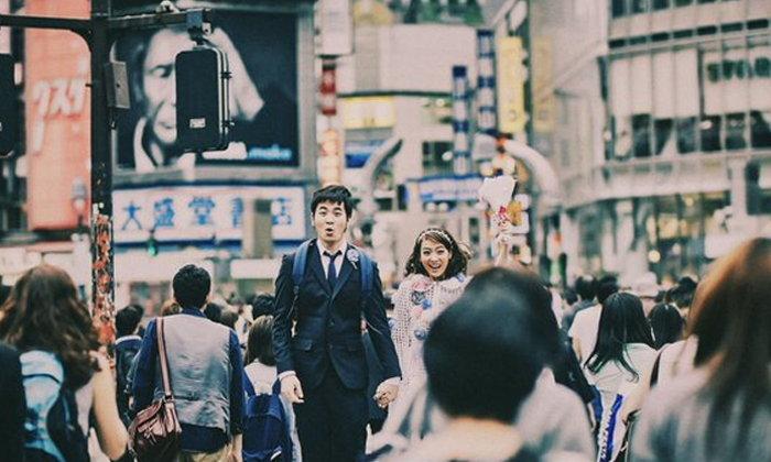 แสตมป์ อภิวัชร์ นิว จีริสุดา ถ่ายพรีเวดดิ้งที่ญี่ปุ่น เรียบง่ายแต่น่ารัก